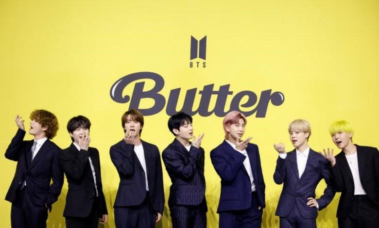 Foto - Grupo BTS em Butter.