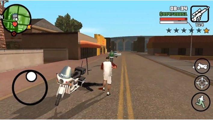 Grand Theft Auto San Andreas no Celular
