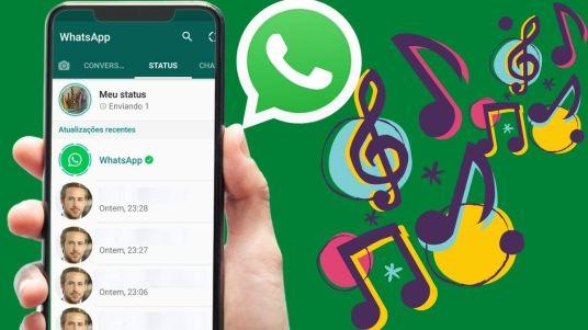 Como Colocar música na foto do WhatsApp