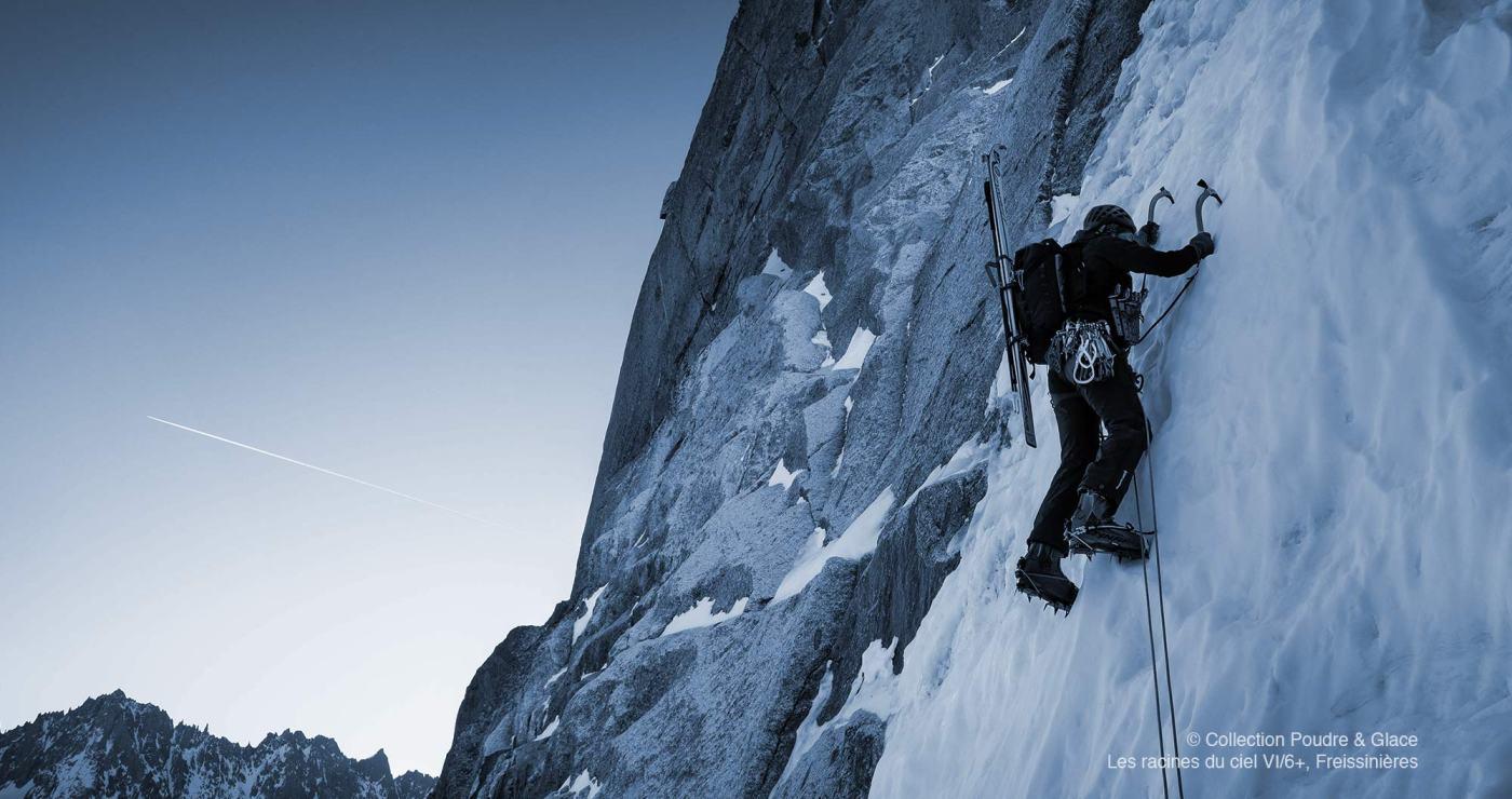 ©Yves Allemand, Face Nord des Droites, couloir Lagarde, massif du Mont-Blanc, Chamonix