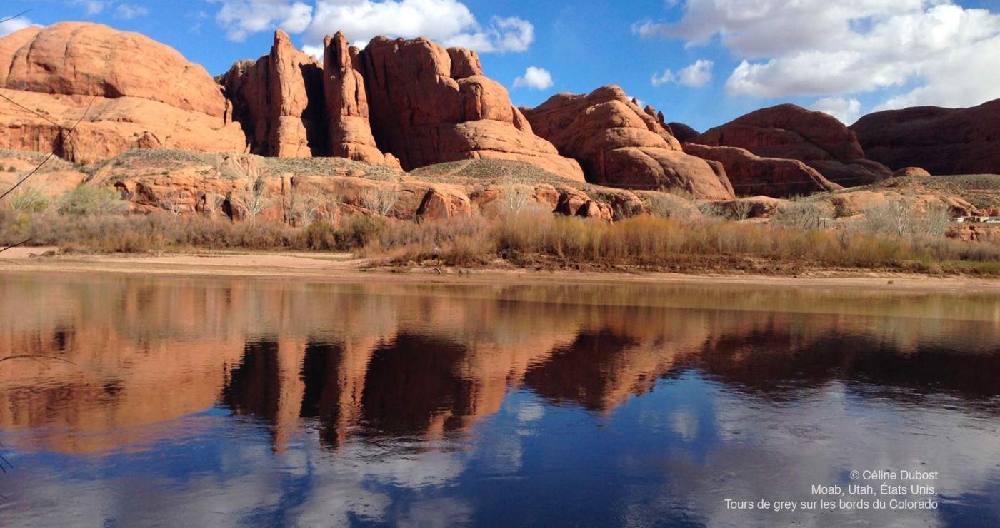 © Céline Dubost, Moab, Utah, USA, Tours de grey au bord du Colorado