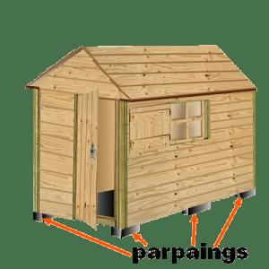 poulailler construit en bois