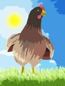La poule pour lutter contre la chaleur ouvre grand le bec et écarte les ailes. Ces signes doivent vous alerter.