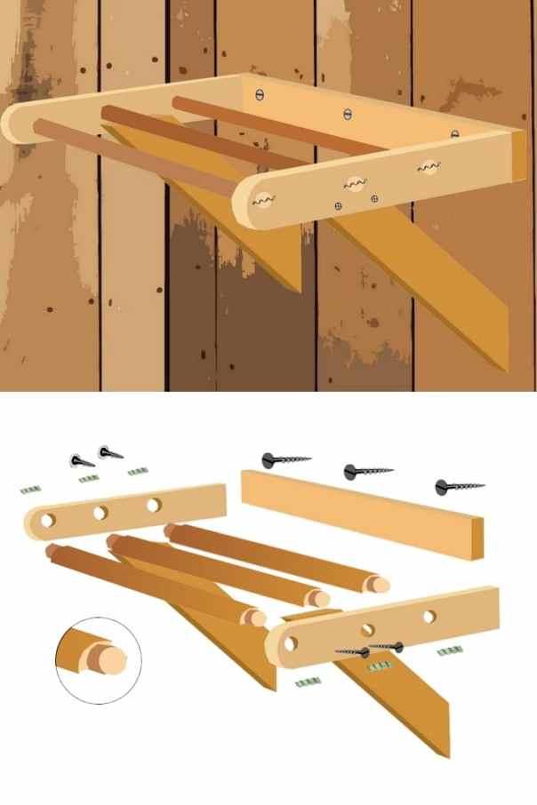 Plan d'un perchoir pour poules-petit poulaillier - détails
