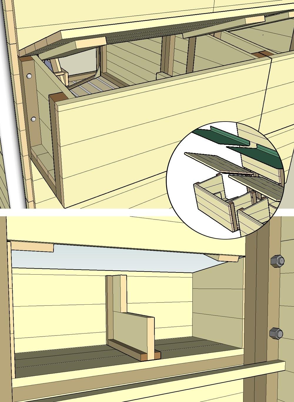 plan poulailler avec pondoir. Black Bedroom Furniture Sets. Home Design Ideas