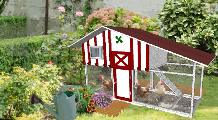 poulailler déco pour petit jardin-1