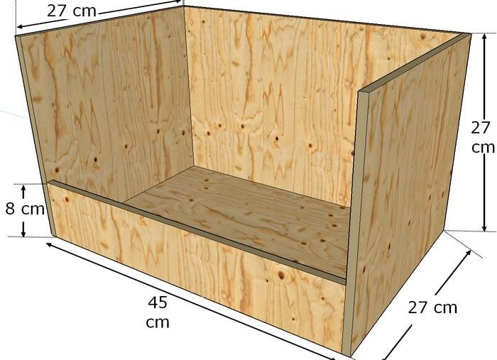 faire une boite nid pour lapine poulailler bio. Black Bedroom Furniture Sets. Home Design Ideas