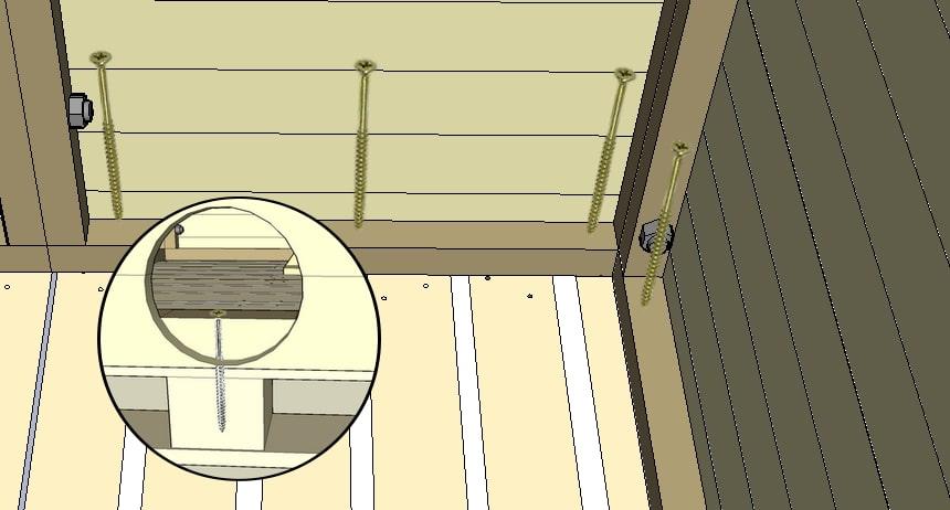 fixation des paneaux au sol du poulailler