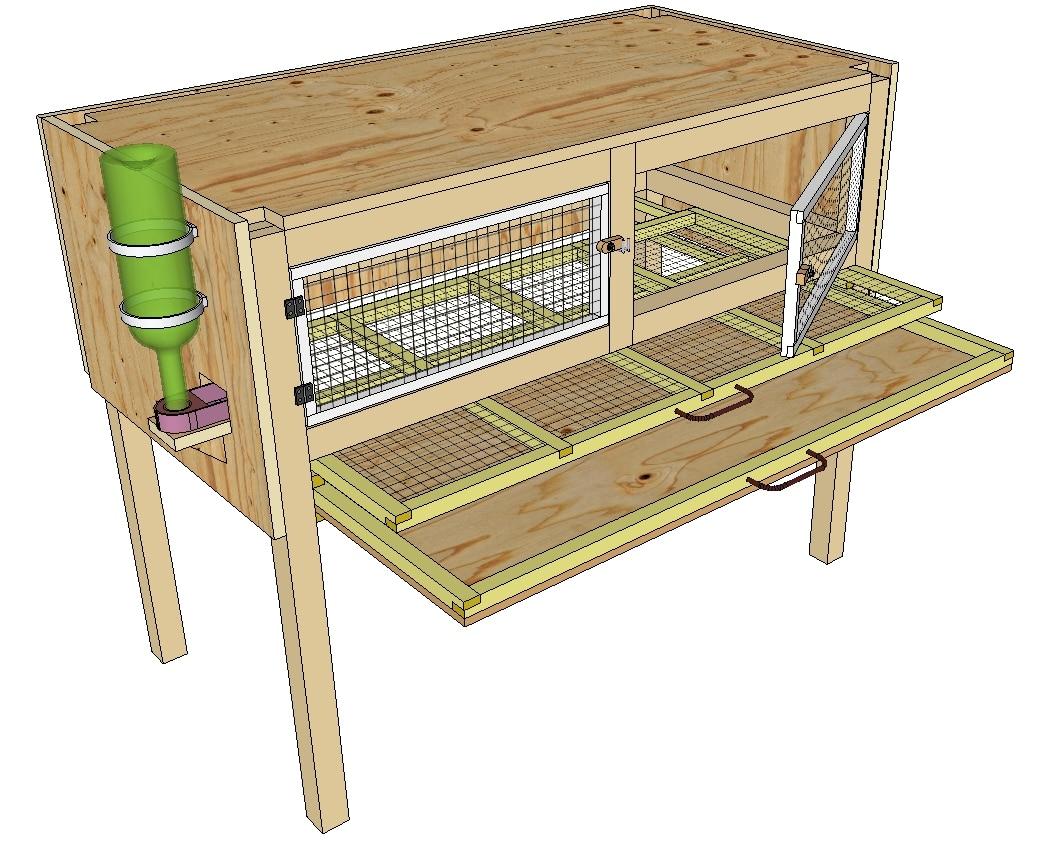 cage pour l'engraissement des cailles