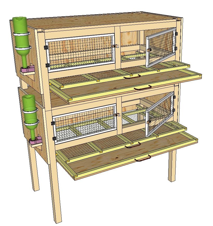 construction de cages d 39 levage des cailles plan poulailler bio. Black Bedroom Furniture Sets. Home Design Ideas