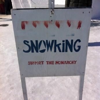2015 Long John Jamboree - Fun sign from the Snowking, Anthony Foliot