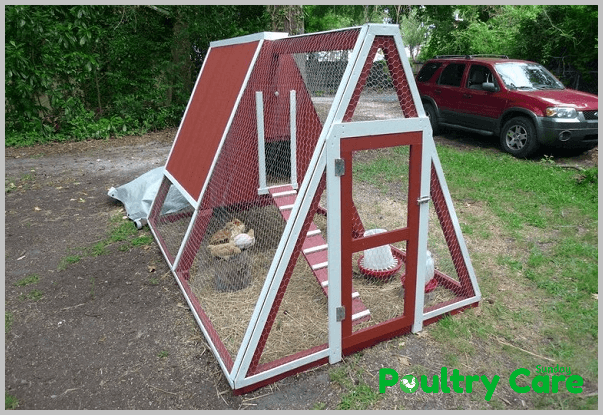 old swing to new wing chicken coop - A Frame Chicken House Plans