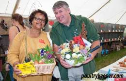 Mark Anderson Howe and Blanche with their Egg Displays. Photo courtesy of Rupert Stephenson.
