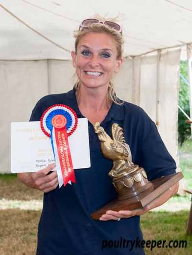 Mollie Green who won Champion Eggs. Photo courtesy of Rupert Stephenson.