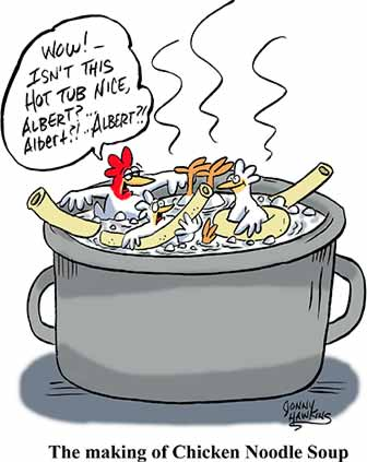 Poultry Recipe Cartoon