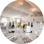 Reception Marquee at Poundon House Wedding Venue | Oxfordshire | UK