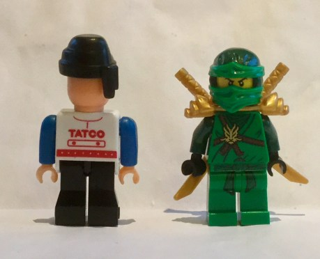 Tatco next to Lego