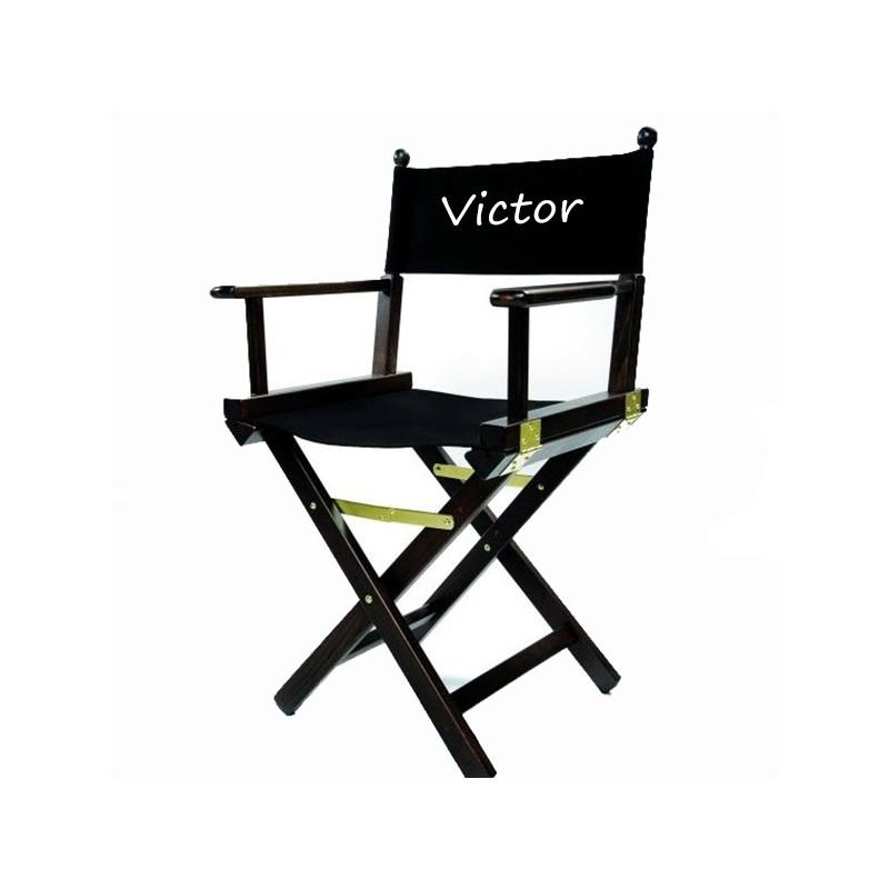 fauteuil metteur en scene noir professionnel