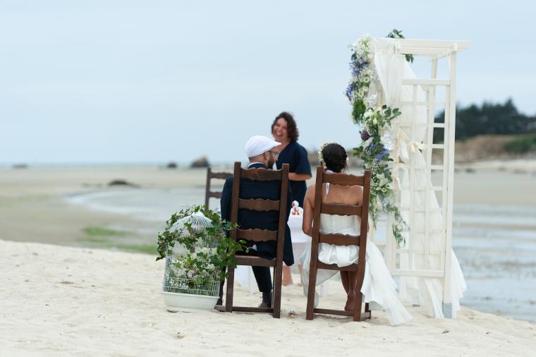un mariage sur la plage