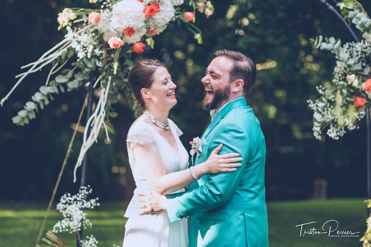 cérémonie de mariage au manoir de tigeaux
