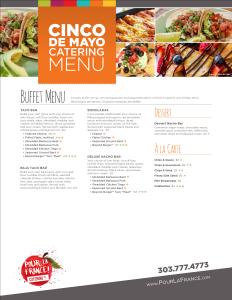 Cinco De Mayo Catering Menu