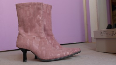 Bottines roses petit 35