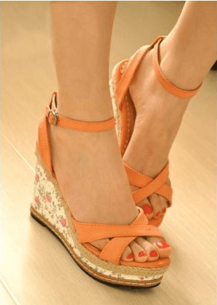 sandales femme couleur orange pointure 35