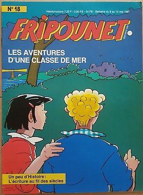 Fripounet 1987, N°18 Les aventures d'une classe de mer