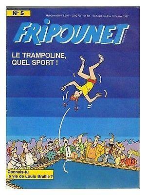 Fripounet 1987, N°5 Le trampoline quel sporto !