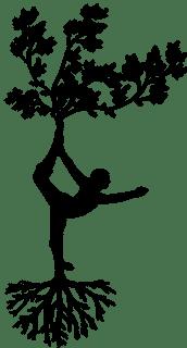 silhouette ancrée et en équilibre