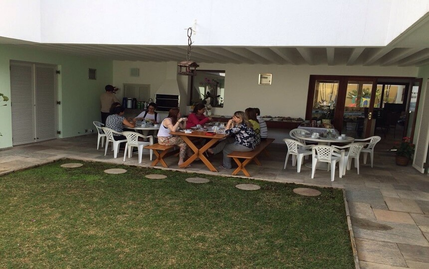 Mesa Externa Evento Pousada Pe na Areia Pernambuco Guaruja