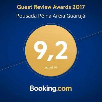 Nota Booking Pousada Pé na Areia Guarujá
