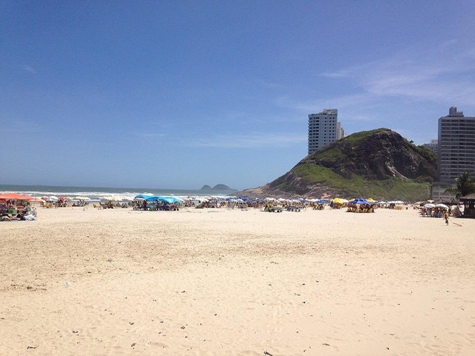 Praia da Enseada em Guaruja - Vista Morro Maluf - Praias do Guaruja