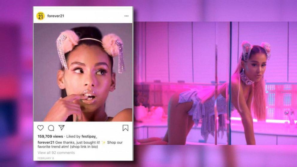 Ariana Grande demanda a Forever 21 y a las hijas del fundador