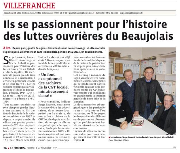 Luttes sociales et politiques à Villefranche et dans le Beaujolais,