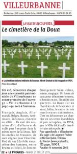 Villeurbanne Le Progrès 150721