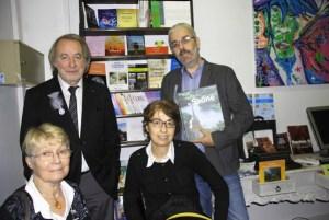 Jacques Bruyas, Jacques Branciard (Editions du Poutan), Simone Volgelgesang, auteur, Marie-Hélène Branciard, webmaster