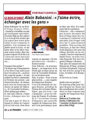 Alain Babanini Le Progres 151031