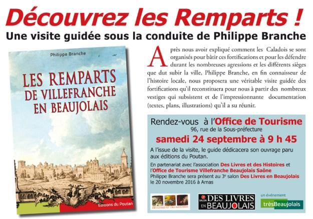 Visite des Remparts de Villefranche-sur-Saône sous la conduite de Philippe Branche