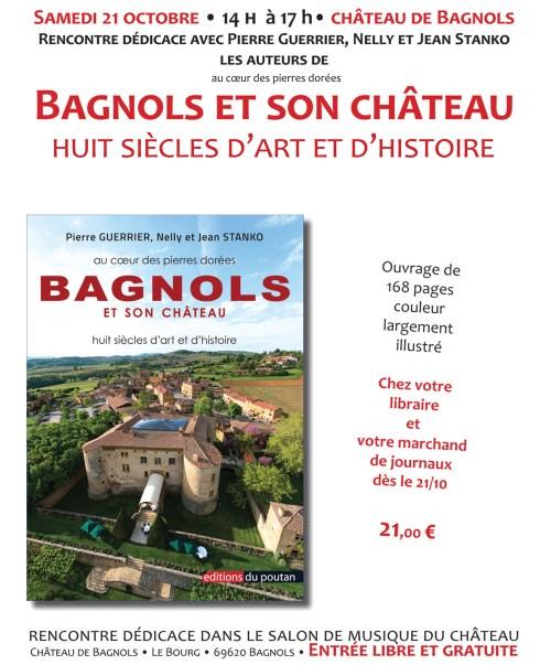 21 octobre – Bagnols et son château – Rencontre avec les auteurs