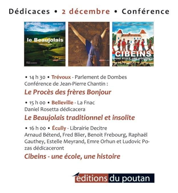 Éditions du Poutan conférence et dédicaces du 2 décembre 2017