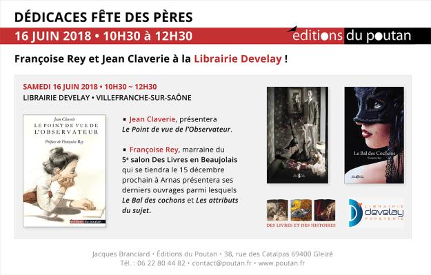 Françoise Rey et Jean Claverie à la Librairie Develay pour la fête des pères !