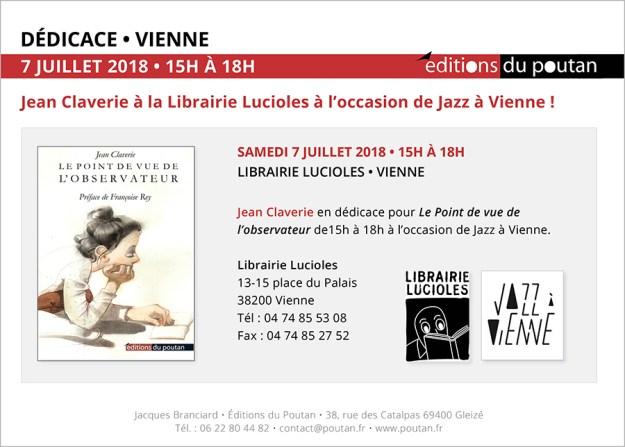 Jean Claverie à la Librairie Lucioles à l'occasion de Jazz à Vienne !