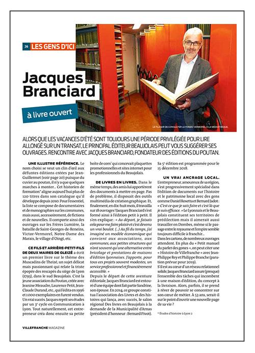 jacques branciard a livre ouvert villefranche magazine 124