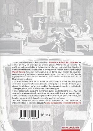 Jean-Marie Roland de la Platière de Daniel Rosetta - Quatrième de couv