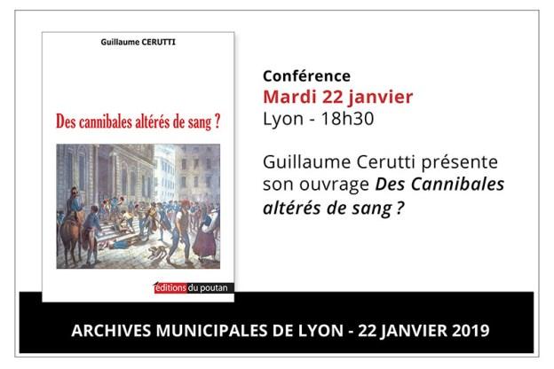 Conférence de Guillaume Cerutti aux Archives municipales de Lyon