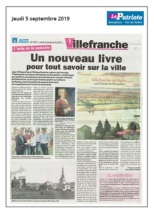 Villefranche, un livre pour tout savoir sur la ville - Le Patriote 05/09/19