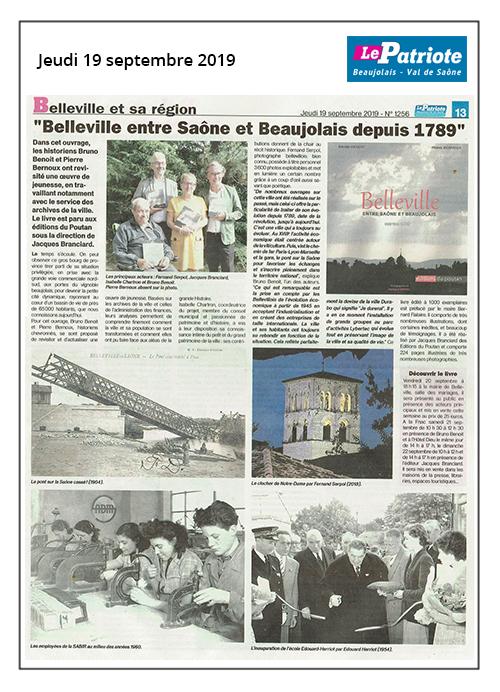le patriote belleville entre saone et beaujolais 190919