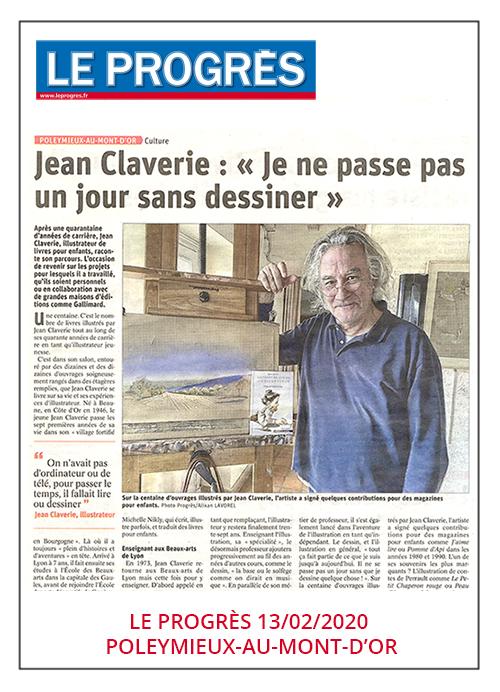 Jean Claverie : L'illustration est une passion - Le Progrès 13/02/2020