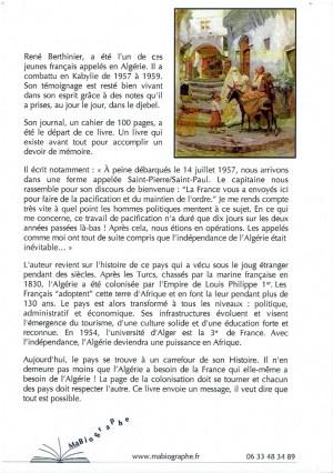 Alger, La Blanche - René Berthinier Quatrième